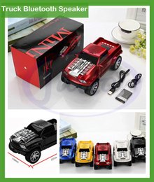 Wholesale Truck Aux Light - 2016 New Truck Bluetooth Speaker DS-396BT with coloful Light MP3 Player Support led light External battery FM TF USB drive Aux- in DHL free