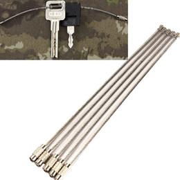 Canada 15cm EDC vitesse en acier inoxydable fil porte-clés anneau clé cercle métallique corde câble camp extérieur gadget tactique accessoire Offre