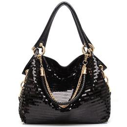 f1f04f25292f Women messenger Bag Women Handbag Leather Glisten PU Leather Shoulder  package crossbag Tote Cool Sequined Luxurious Bag LUL71