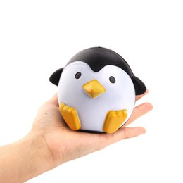 Wholesale fun stuff - Finger Toys 2017 New Arrival Jumbo Squishy Penguin Kawaii Cute Animal Slow Rising Sweet Scented Vent Charms Bread Cake Kid Toy Doll Gift Fun