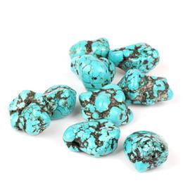 Wholesale Howlite Cross Bracelets - 20pcs 20-25mm Irregular Natural Stone Gravel Beads Turquoise Beads for Necklace Bracelet Craft Making Findings Freeform Howlite Loose Bead
