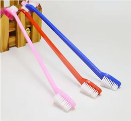 Wholesale Pet Dog Health - Dog Dental Grooming Toothbrush Pet Supplies Cat Puppy Dog Health Supplies Color Random Send Dog Supplies 21.7X1X1.6CM