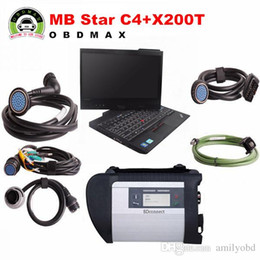 Wholesale Laptop Mb Star Diagnosis - MB SD Connect Compact 4 Star C4 Diagnosis Plus IBM X200T Laptop Software Installed Ready to Use DAS XENTRY MB Star C4