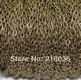 Wholesale Wholesale Bronze Wire - Antique Gold  Bronze Cable Open Link Iron Metal Chain For Necklaces Bracelet Accessories DIY Jewelry Findings Accessories 100m 3*2 mm N1551