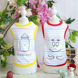 Wholesale Xs Pet Wedding Dress - Wholesale Cute Patterns Pet Dress Yellow Red Dogs Suit Free shipping Set XS S M L XL