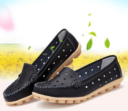Wholesale Shoes For Pregnant - Spring summer hollow out big yards for women's shoes flat single pregnant women shoes mother nurse flat shoes