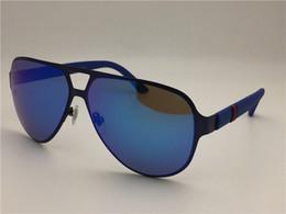 Wholesale Mirror Carbon - new fashion men brand designer sunglasses wrap sunglass pilot frame coating mirror lens carbon fiber legs summer style G2252