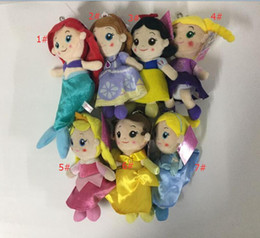 Wholesale 20 cm Seven princess series Plush toy doll Princess Cinderella Doll style kids good toy