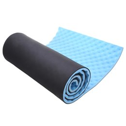 Wholesale Exercising Mat - Wholesale-Free Shipping 1.5CM Single Outdoor Exercise Sleeping Camping Yoga Mat with Carrying Straps
