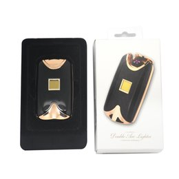 Wholesale Arc Fashion - 2017 new fashion and hot selling USB Electric Dual Arc Metal Flameless fingerprint Rechargeable Windproof Lighter