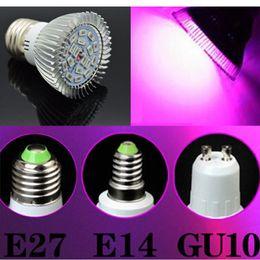Wholesale E14 Plant - Full spectrum LED Grow lights 10W18W E27 E14 GU10 LED Grow lamp bulb for Flower plant Hydroponics system AC 85V 265V grow box