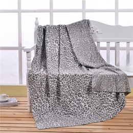 Wholesale Twin Bedspreads Wholesale - Leopard & Animals Pattern Blankets Letter Blanket Bed Fashion Fleece Bedding Sofa Air Condition Cotton Bedspreads Multi-Color