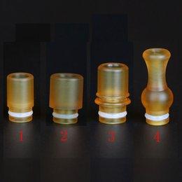 Atomizzatore a goccia online-PEI Drip Tip 510 MouthPiece 4 tipi di atomizzatori di vapore Consigli di sostituzione E sigaretta 510 RDA RBA atomizzatori DHL gratis
