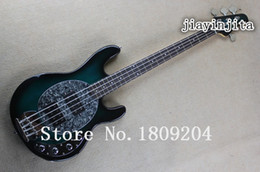 Wholesale Bass Sting Ray Strings - Wholesale- Free Shipping Guitar High Quality Music Man SABRE Active Pickup Ernie Ball Sting Ray Green 4 String Bass Guitar