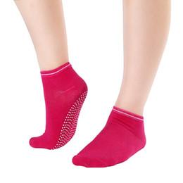 Wholesale Ankle Toe Socks Women - Wholesale-Women's Fitness Pilates Socks Colorful Non Slip Massage Toe Durable Dance Ankle Grip Exercise Printed Letter Socks S4