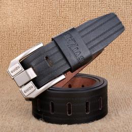 Wholesale Leather Fabric For Belt Wholesale - Wholesale- [TG] New Designer Luxury Brand Men Belt Faux Leather Male Belts Cintos Ceinture Male Fabric Belts for Men Cowboy Waistband
