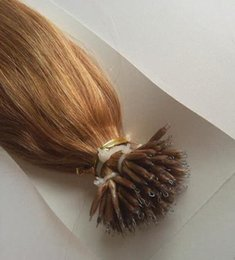 "Wholesale Bead Hair Extensions - 100 Beads +100g 18"" 20"" 22"" 24"" INDIAN Remy Human MICRO NANO RINGS Tip Hair Extensions"