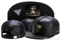 Wholesale White Leather Hat - 2017 Summer Style Cayler & Sons leather lock Baseball Caps Casquettes chapeus hip hop Outdoor Sports Snapback Hats For Men Women
