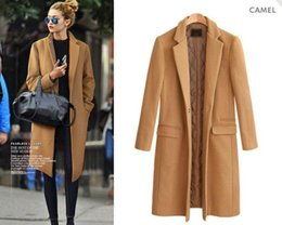 Wholesale Quilted Sleeves - Wholesale manteau femme European 2017 Fall   Winter Women Wholesale Oversized Quilted Woolen Coat Nibbuns Simple Outerwear casaco feminino