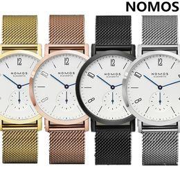 Wholesale Male Hook - Relogio masculino NOMOS 2017 Fashion Luxury Brand Watches Men Quartz Watch Leather Watch Waterproof Wristwatch Reloj Hombre DZ Male Clock