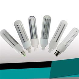 Wholesale Cfl Led - New Design PL Light LED Corn Light 9W 12W 15W 18W E27 G24 Led Bulbs CFL Lamp 360 Degree AC 110-240V