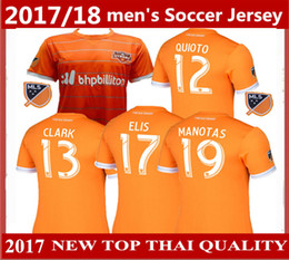 Wholesale Houston Black - new Houston Soccer jersey DYNAMO Home 2017 2018 Thai quality football shirt Houston Soccer uniforms MLS Dynamo American Major League jersey