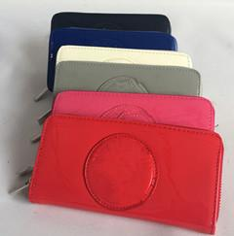 Wholesale Red White Blue Coin Purse - Hot selling Fashion Ajs Wallet Long Design Women PU Leather Kardashian Kollection High Grade Clutch Bag Zipper Coin Purse Handbag