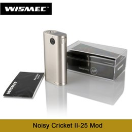 Wholesale Alternative Power - Wholesale- Newest Wismec Noisy Cricket II-25 Mod Powered By Dual 18650 Cells Alternative Operating Vape Mode 100% Original E Cigs
