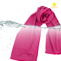 Wholesale wholesale ice yarn - 2017 New Hot Ice Cold Towel Cooling Summer Sunstroke Sports Exercise Cool Quick Breathable Cooling Towel for Kids Adult 90*30cm