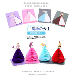 Wholesale Greeting Arts - Wholesale- Creative Handmade Paper-cut Art Carving 3D Greeting Card Children's Day Birthday Gift Card Dancing Princess High Quality WZ