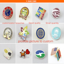 Wholesale Metal Badges Custom - Custom make metal badges enamel pins customized small quantity brooches customization factory price wholesale free DHL