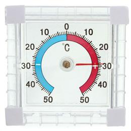Wholesale Garden Temperature - Window Indoor Dial Temperature Thermometer Outdoor Wall Greenhouse Garden Home Office Graduated Disc Measurement
