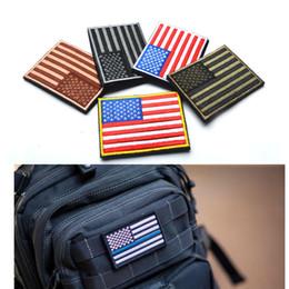 Toppa ricamata della bandiera americana degli Stati Uniti Patriottica Tattiche militari americane Toppe di ferro-su o cucono a qualsiasi indumento da