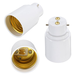 Wholesale B22 Adaptors - Hot Sale BC B22 To ES E27 Screw Light Bulb Adaptor Lamp Holder Converter Lamp Bases White