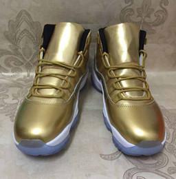 Wholesale Velvet Satin - Drop Shipping 11 Wool 11s Velvet Heiress Gold Color For Men Basketball Shoes Free Shipping