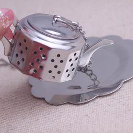 Wholesale Wholesale House Tea Strainer - Stainless Steel Tea Infuser Loose Leaf Tea Strainer Herbal Spice Infuser Filter Rocket Teapot Bird House Shape Tea Tools E