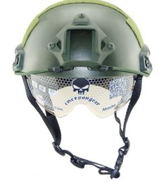 Wholesale game helmets - 2016 Best Selling FAST MH Outdoor Training CS Fighting Games Safety Helmet with Goggles