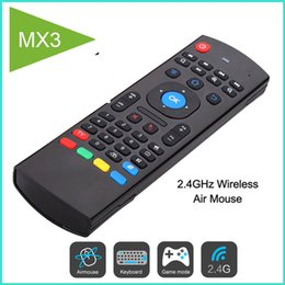 Wholesale Touch Learning - MX3 Fly Air Mouse 2.4GHz Wireless Mini Keyboard IR Learning Mode Remote Control For TV Box VS RII I8 Keyboard
