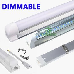 Wholesale 11w Led Lamp - Dimmable Integration 2ft 3ft 4ft T8 Led Tube 1.2m LED Light Tube 11W 16W 22W 2400lm 85-265V Led lamp Fluorescent lighting 100100