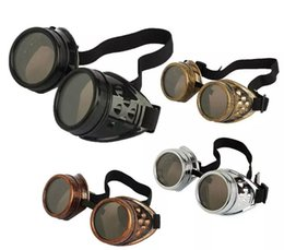 Wholesale wholesale victorian - Cyber Goggles Steampunk Sunglasses Welding Goth Cosplay Vintage Goggles Rustic Victorian mix colors 10pcs