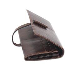 Wholesale Pocket Men S Wallet - Men 's leather wallet wholesale leisure fashion long money chuck layer of cowhide oil wax leather wallet multi - card bit