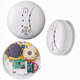 Wholesale Alarm Panels - 433Mhz Wireless Smoke Detector 315Mhz fire alarm for Touch Keypad Panel GSM Home Security System without battery