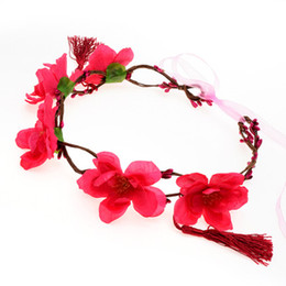 Wholesale Hairbands For Women Brides - New Fashion Wedding Bridal Bridesmaid Tiara Wreath Bride Headdress 2017 For Women Flowers Pageant Prom Hair Accessories