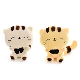 Wholesale Graduation Plush Toys - Lovely Big Face Cat Stuffed Plush Toys with Big Tail Cartoon Style Graduation & Birthday Gift for Children