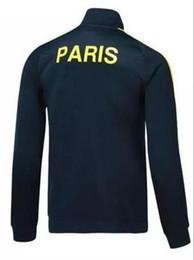 Wholesale Training Jogging Jackets - 17 18 top thai quality for n98 PGs jacket sets Training suit 2017 2018 adult Paris DI MARIA CAVANI VERRATTI LUCAS MATUIDI jogging jackets