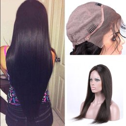 Wholesale Handtied Brazilian Hair - High Quality Lace Frontal Closure 8A Grade Straight Lace Frontal With Natural Hairline Pre Plucked Brazilian Virgin Human Hair HandTied