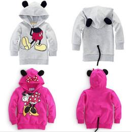 Wholesale Outwear Minnie Mouse - Wholesale- Unikids Baby Girls Boys 3D Mouse Minnie Autum Tops Hoodie Sweatshirt Coat Outwear