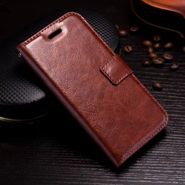 Wholesale Book Holder Phone Case - Fashion Retro Crazy Horse Leather Wallet Case For Iphone X Frame Photo Card Slot ID Holder Stand Flip Cover Cell PHone Pouch Book