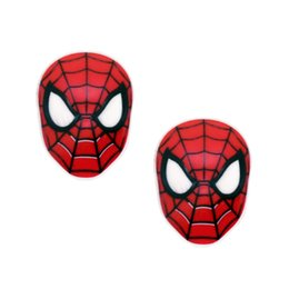 Wholesale Spider Man Decoration For Party - DIY Decoden 30Pcs Super Man Batman Hero Resin Planar Red Spider Cabochons Resin Craft Jewelry Embellishment For Kids Party GIFT Deocrative
