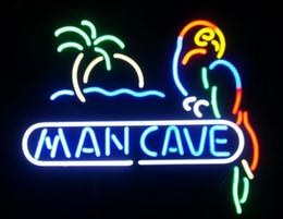 Man Cave Parrot Real Glass Lámpara de neón Lámpara de neón Beer Bar desde fabricantes